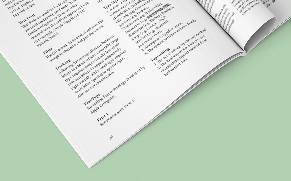 Typographic Glossary - Detail