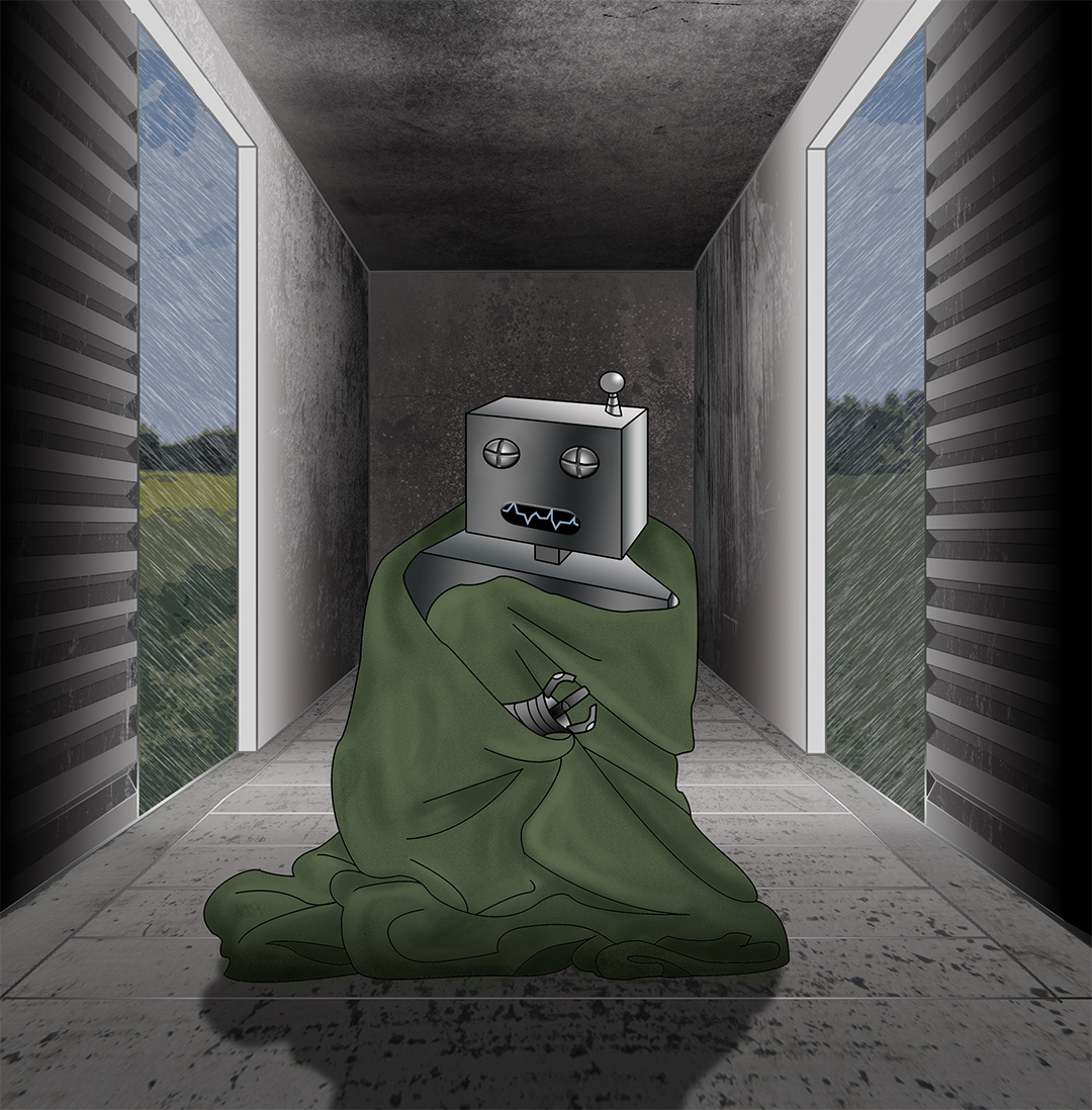 Even Robots Need Blankets Cover