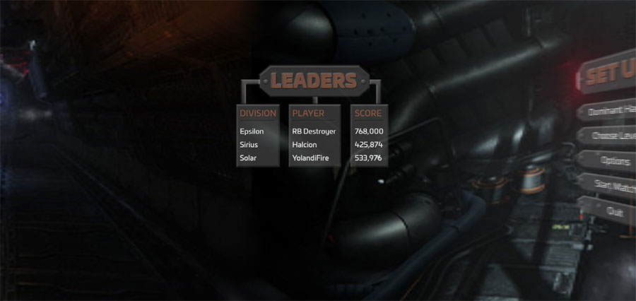 VR Game Menu - Leaders