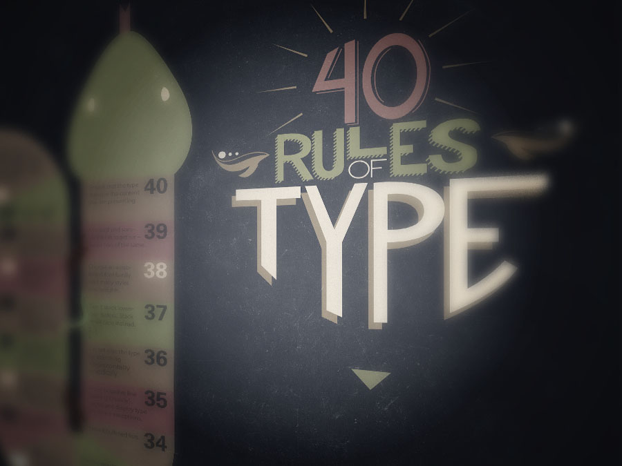 Rules of Type Handlettering