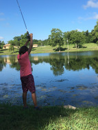 Fishing by the Lake