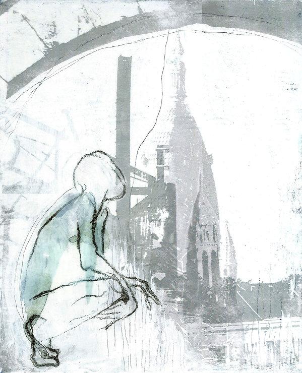 paint, screenprint, sérigraphie, création, art, couleurs, unique, série, engagé, unique, collage, chine collé, experiment, eglise, caserne niel, bordeaux, habiter