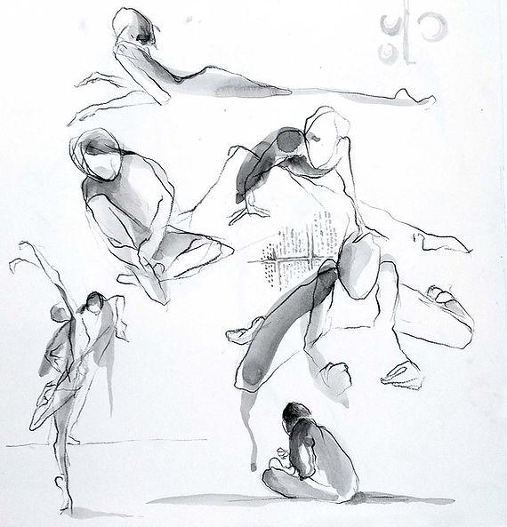 croquis live, sketch, danseurs, aquarelle, inspiration, art