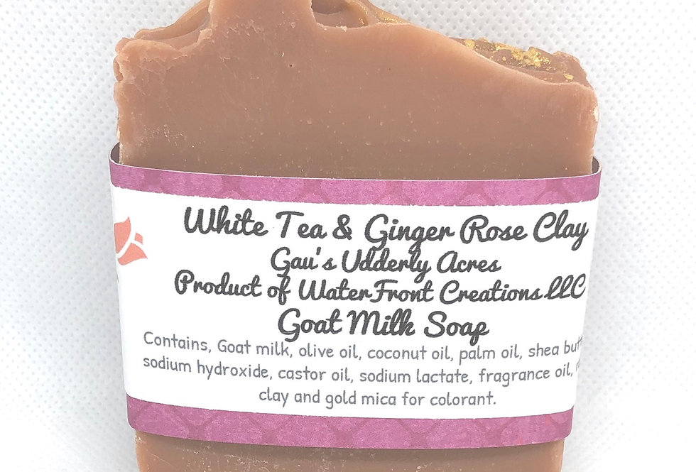 White Tea and Ginger Rose Clay Goat Milk Soap