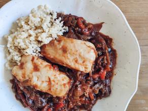 Lomos de merluza con salsa de vermú