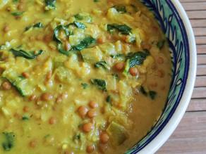 Curry de lentejas con y sin thermomix