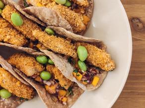 Tacos caseros de merluza crispy
