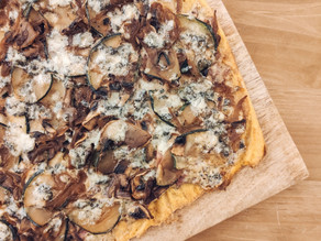 Pizza con base de calabaza