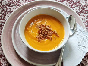 Crema de calabaza y zanahoria asada