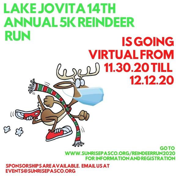 ***DEADLINE EXTENDED TO DEC 31*** Lake Jovita 5K is going...virtual!