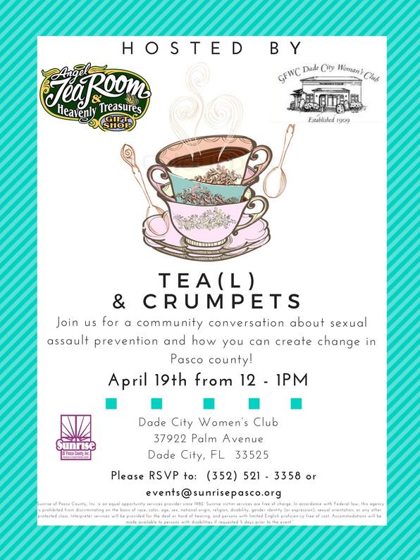 Plans for Tea(l) & Crumpets Finalized!