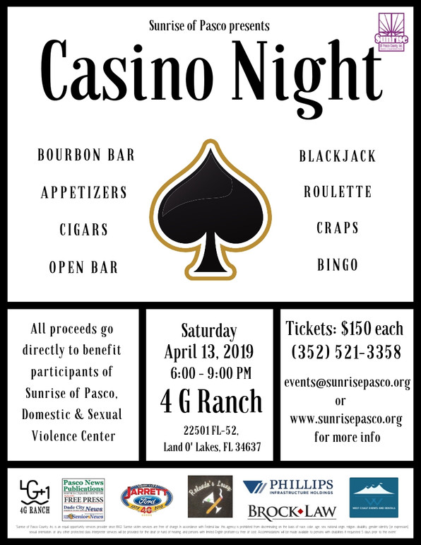 Tickets are still available for Casino Night!