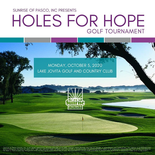 Holes for Hope Golf Tournament scheduled for October 5th