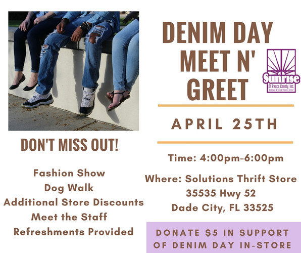 Meet and Greet at Solutions Today in recognition of Denim Day