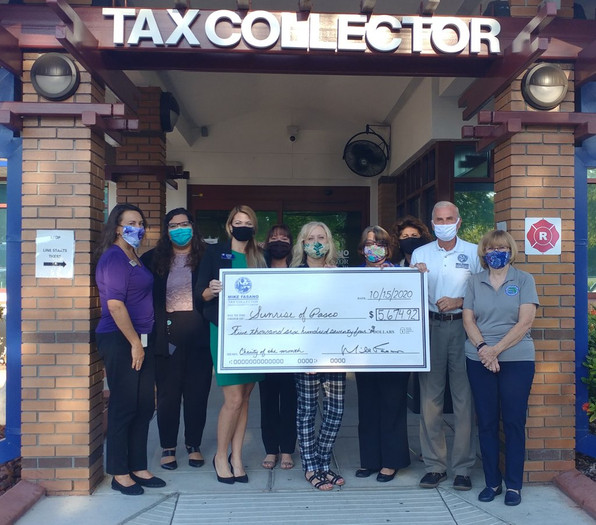 Pasco Tax Collector's Five Offices Collected Over $5,600 in Donations for Sunrise