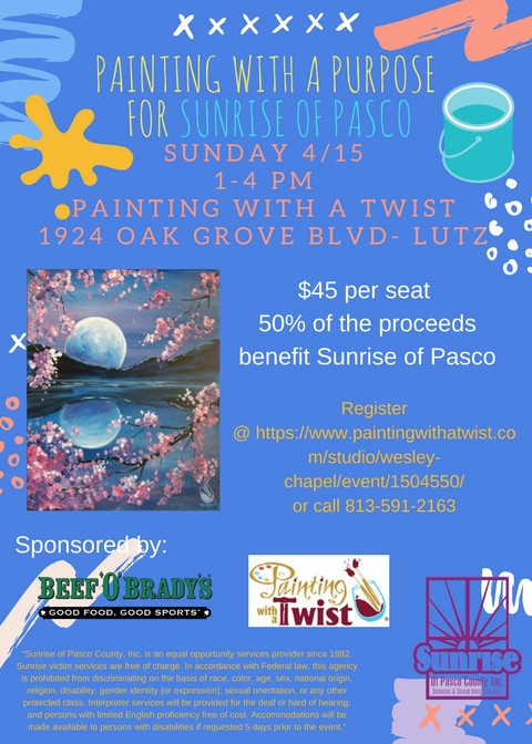 Painting with a Purpose on April 15th