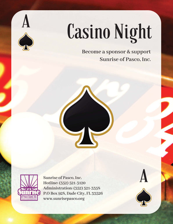 Sponsorships Available for Casino Night