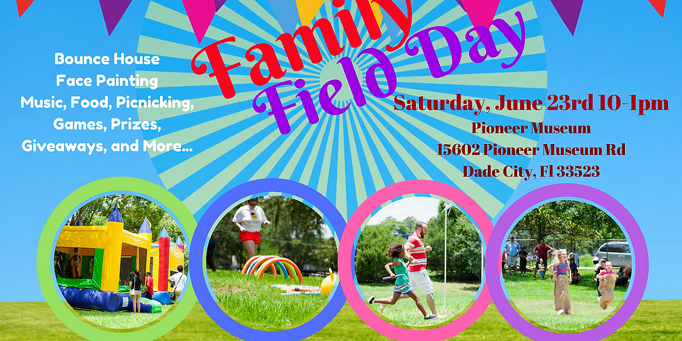 Family Field Day at Pioneer Museum with Color Me Abstract