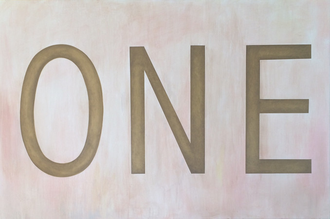 ONE. 4ftx6ft oil on wood panel