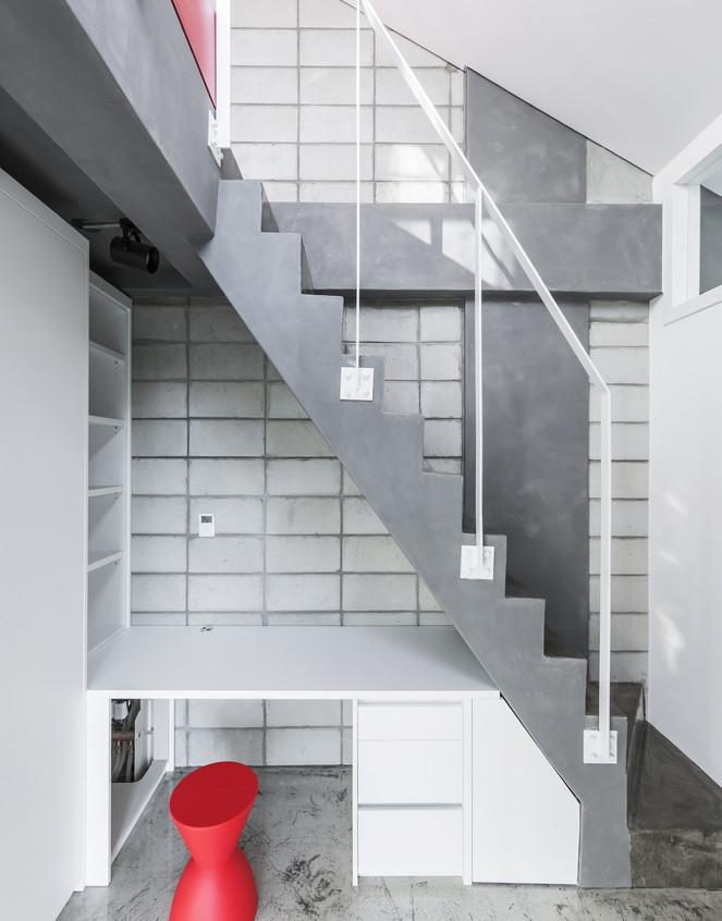 Flying house interieur bureau