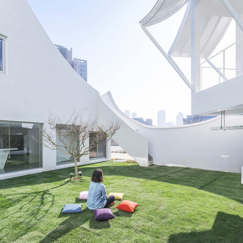 Flying house exterieur jardin