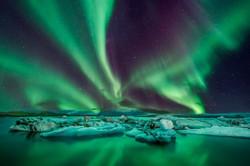 Jökulsárlón Norðurljós 3
