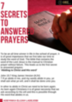 Secrets to answered prayers