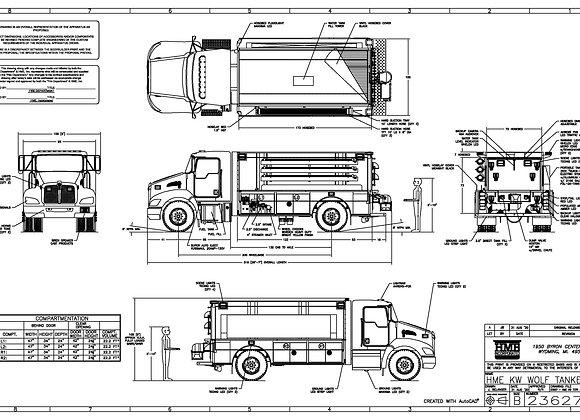 HME Ahrens-Fox / Kenworth T370 500/2000 SA Tanker
