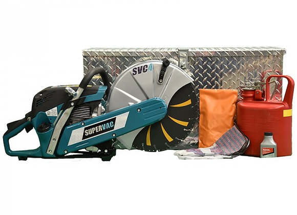 """SuperVac 14"""" Cut-Off Saw Kit with Tread Plate Box"""