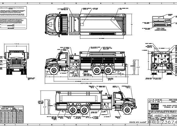 HME Ahrens-Fox / Int HV607 Pumper Tanker 1500/2500