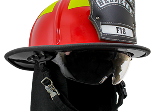 Pacific - F18 Traditional Style Firefighting Helmet - NFPA