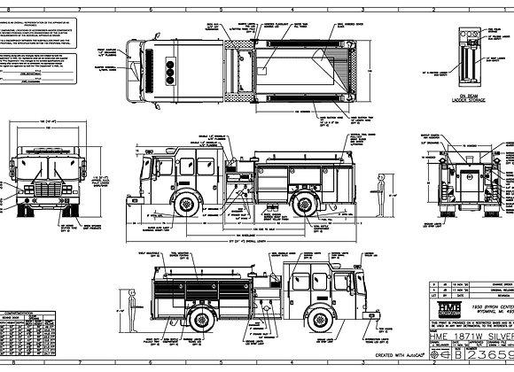 HME Ahrens-Fox 1871W SilverFox Pumper 1500/1000
