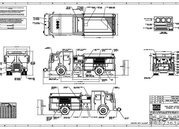HME Ahrens-Fox 1871-SFO SilverFox Pumper 1500/1000