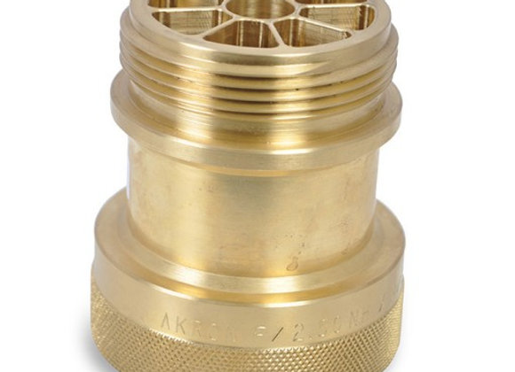 "Akron Style 485 2-1/2"" Brass Mini Stream Shaper"