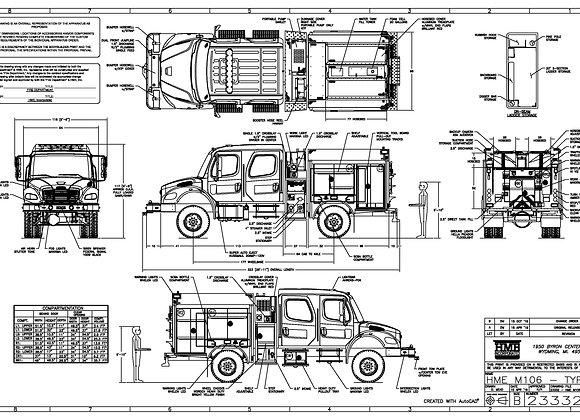 HME Ahrens-Fox / Freightliner M2 Model 34F Type III 500/500