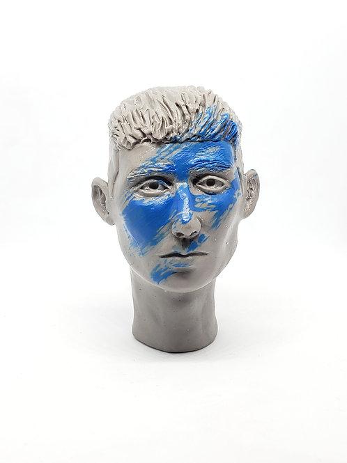 Blue paint man