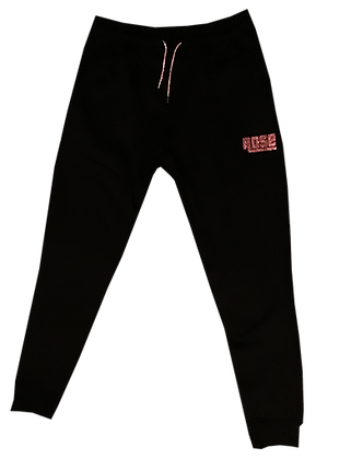 Pink Rose Army Bust Down Sweats