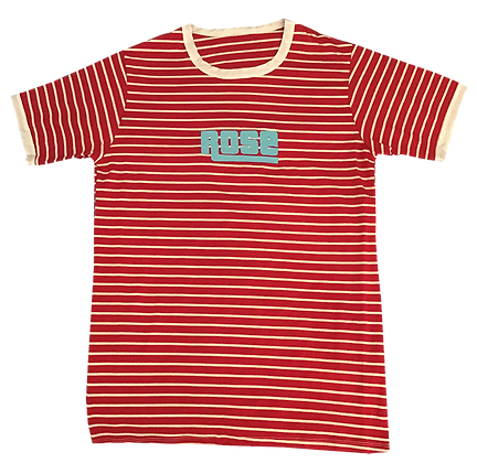 R&W Striped Rose Army Tee