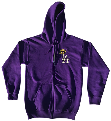 Champ Purple LA ROSE Zipper Hoodie
