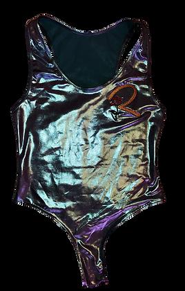 Metallic Aqua R1 Bodysuit