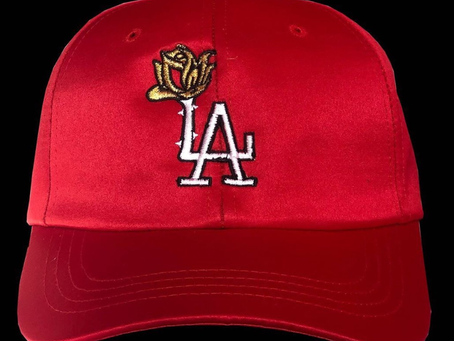 New Satin LA Rose Player Caps