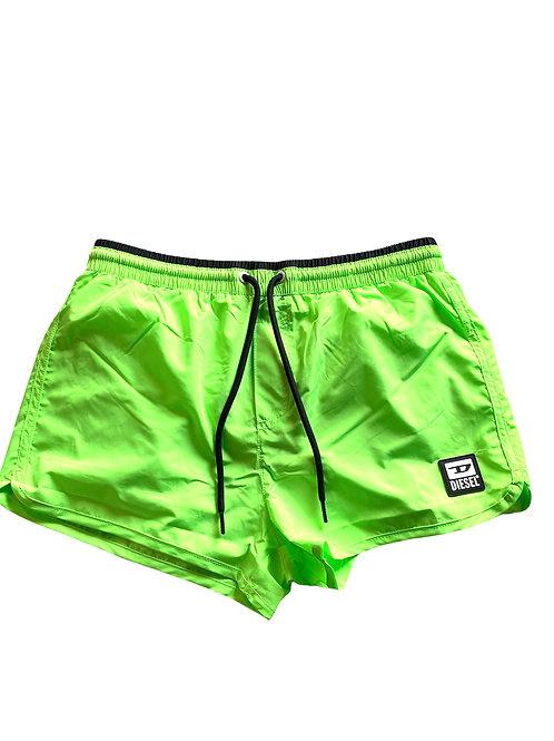 Diesel Costume Boxer Corto - Verde Fluorescente