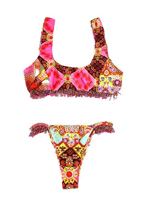 Costume Bralette+Bras - Perline Venture - F**K - Fucsia\Fant
