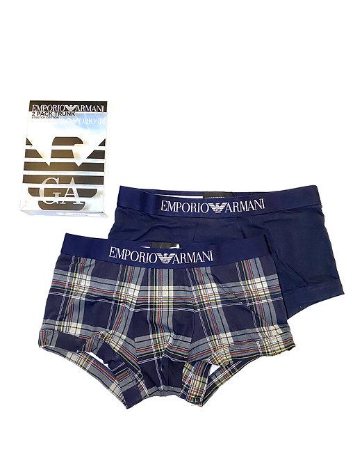 111210 0A504 - 69235 - Boxer Bipack Armani - Fantasia Scozzese