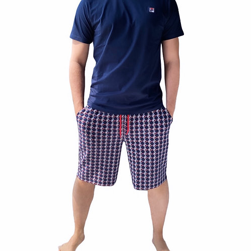 Fila T-Shirt + Pantaloni Corti Fantasia - Blu\Rosso
