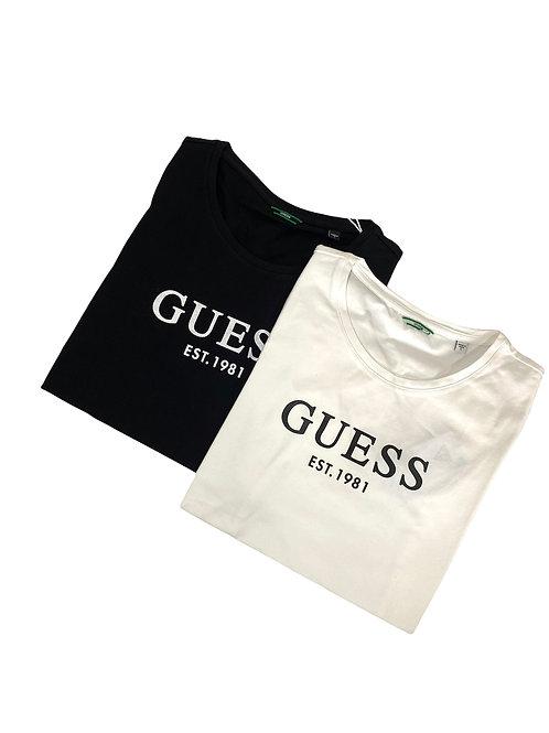 T-Shirt Classic Logo - Guess - Bianco