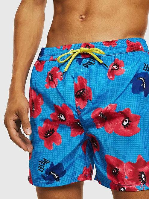 00SV9U 0HAXN - 8HE - Costume Boxer Medio DIESEL - Azzurro Fiori