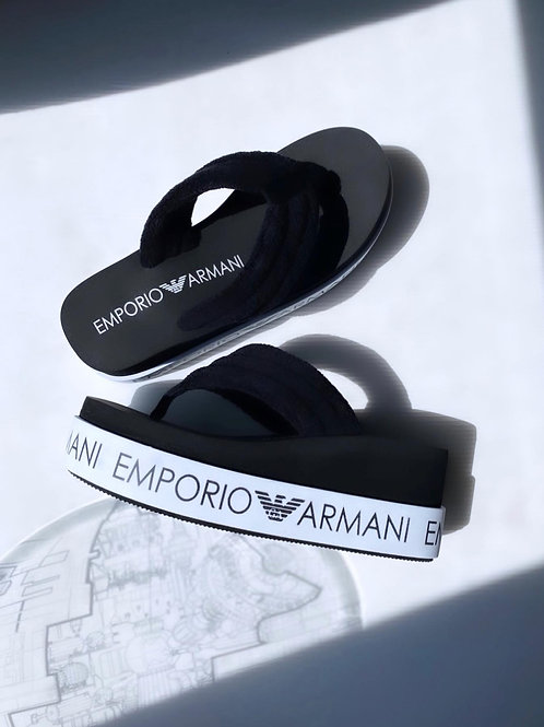 Armani Zeppe Infradito - Nero\Bianco