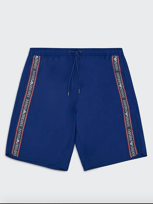 211745 0P443 04433 - Costume Boxer Lungo ARMANI - Bluette