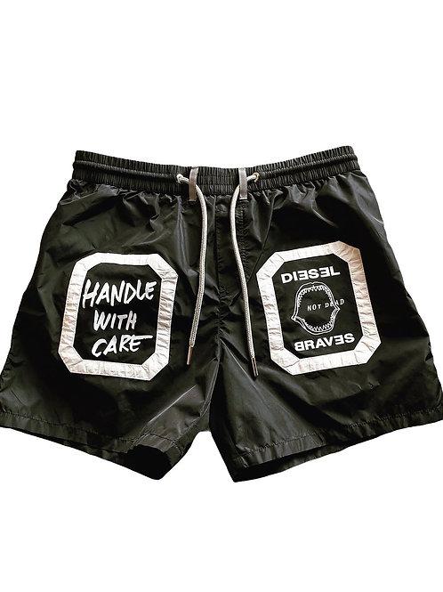 Diesel Costume Boxer Medio Handle - Nero